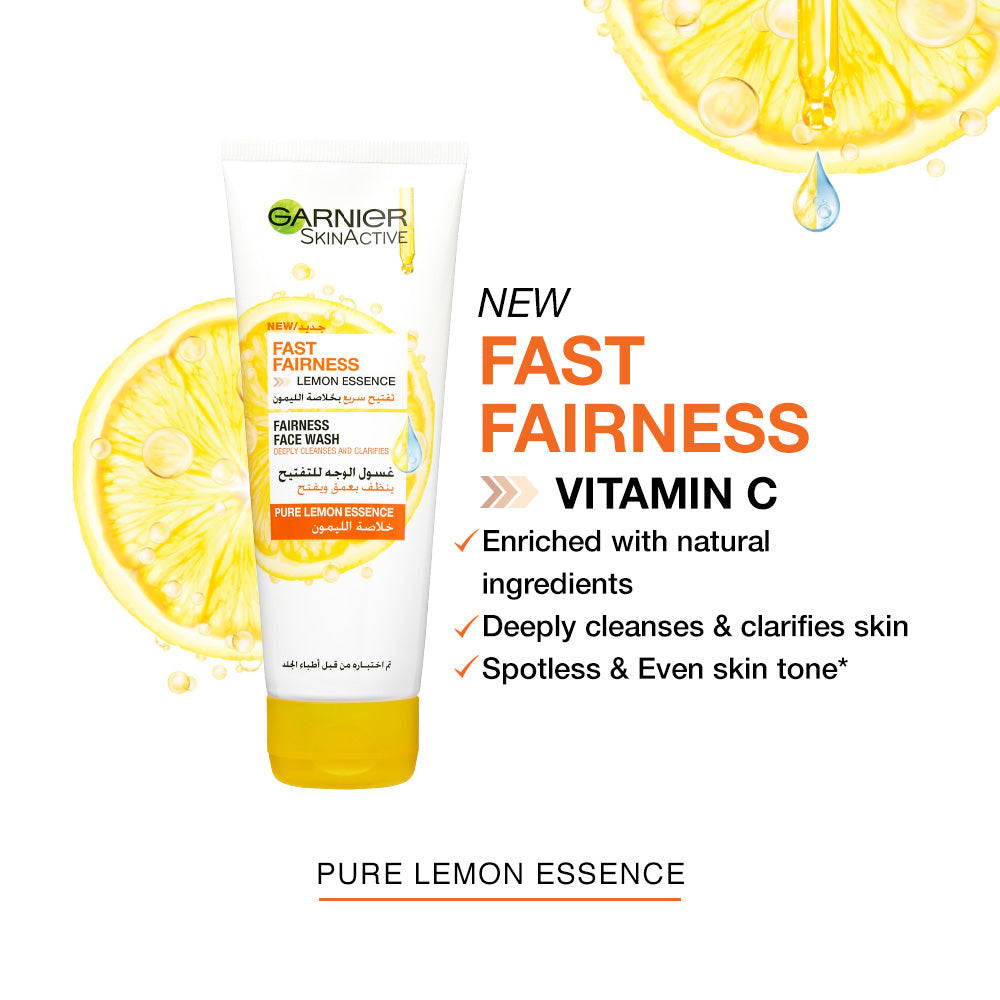 Garnier Fast Fairness Face Wash 100ml