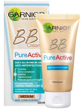 Garnier BB Pure Active 5-In-1 Daily Moisturizer Anti-Imperfections 50 Ml