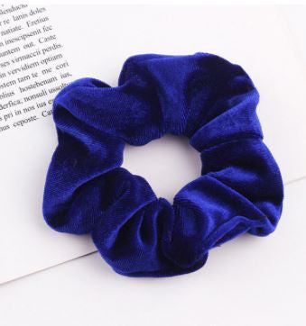 Velour Hair Scrunchies