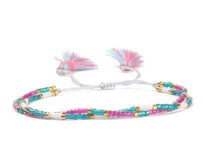 Tassel Two Layers Pink Bracelet