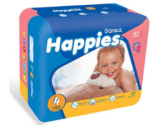 Sanita Happies Large (Size 4)