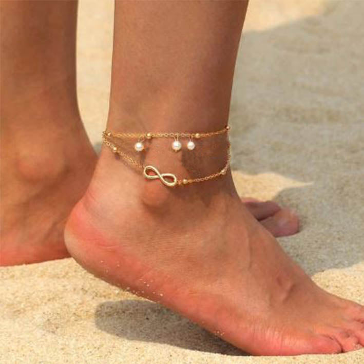 Multi Layered Infinity Anklet