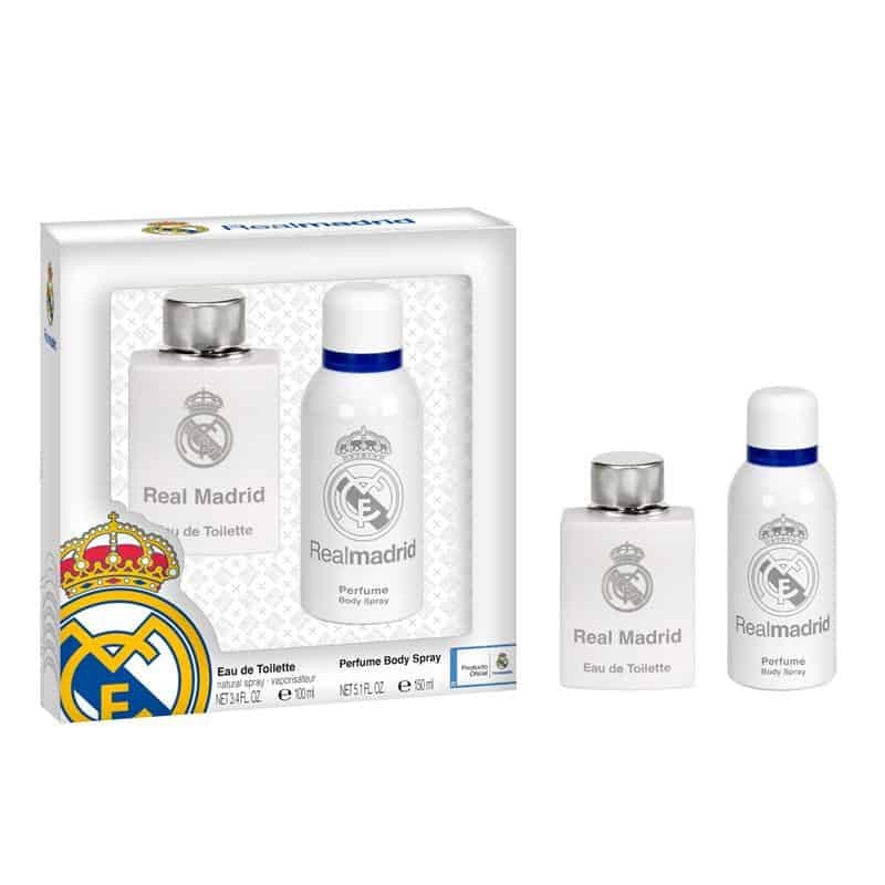 Real Madrid Eau De Toilette 100ml & Perfume Body Spray 150ml