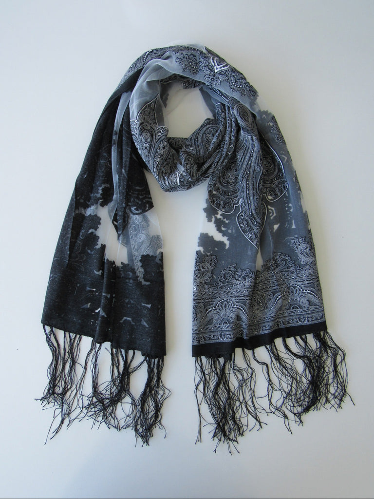 Black and Grey Scarf