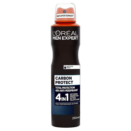 L'Oreal Men Expert Carbon Protect 4 in1 Total Protection 48H - Spray-MyKady