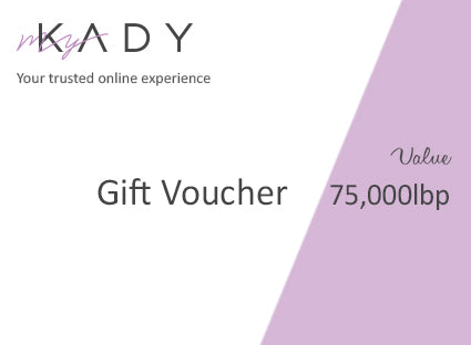 Gift Voucher Value 75000lbp