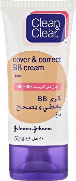 Clean 'n' Clear Cover & Correct BB Cream LIGHT 50ml 50 ml