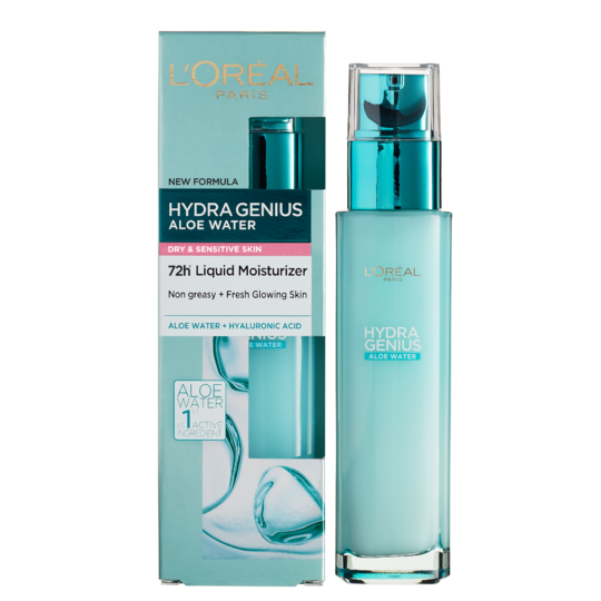 L'Oreal Paris Hydra Genius Waters Moisturizer Dry Sensitive Skin 70ml