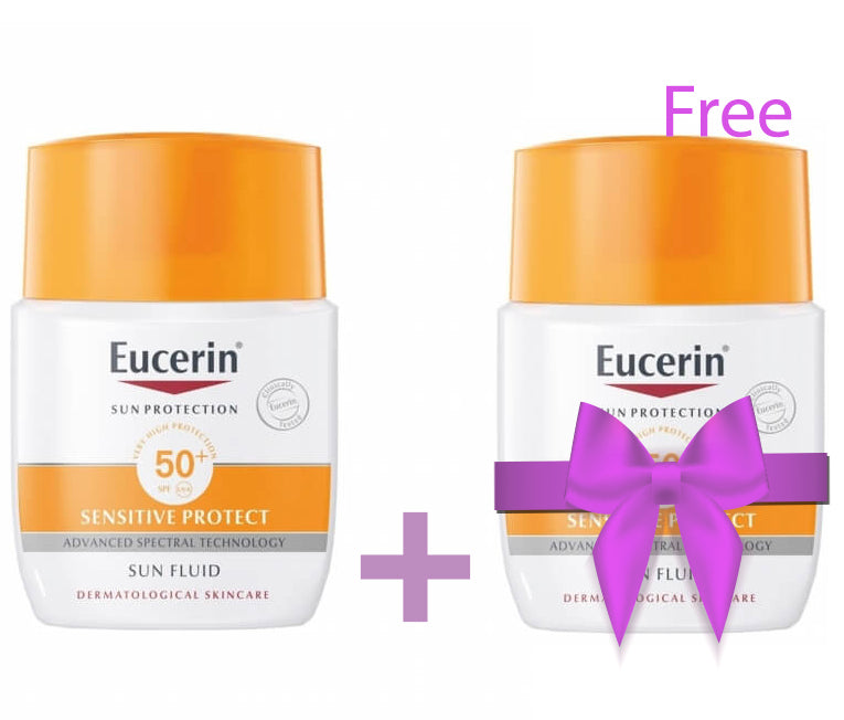 Eucerin Sensitive Sun Fluid Mattifying buy 1 GET 1 FREE