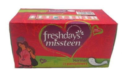 Freshdays missteen 24 normal pantyliners