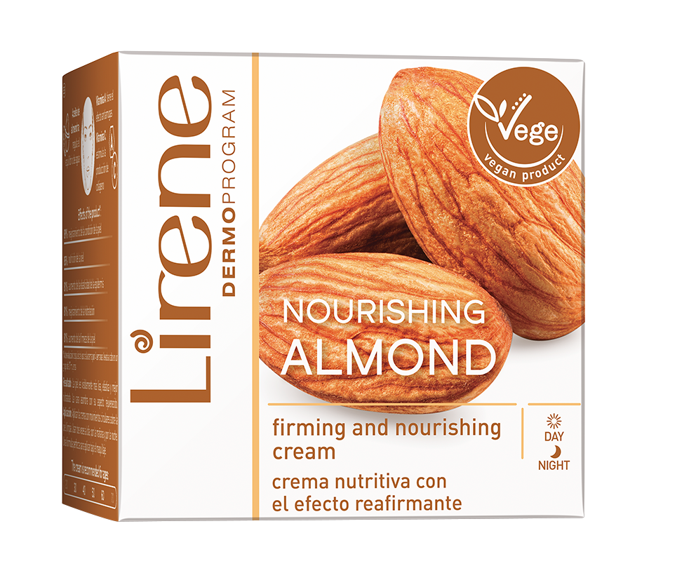 Lirene  Smoothing Almond Oil Nourishing Day & Night Cream 50ML