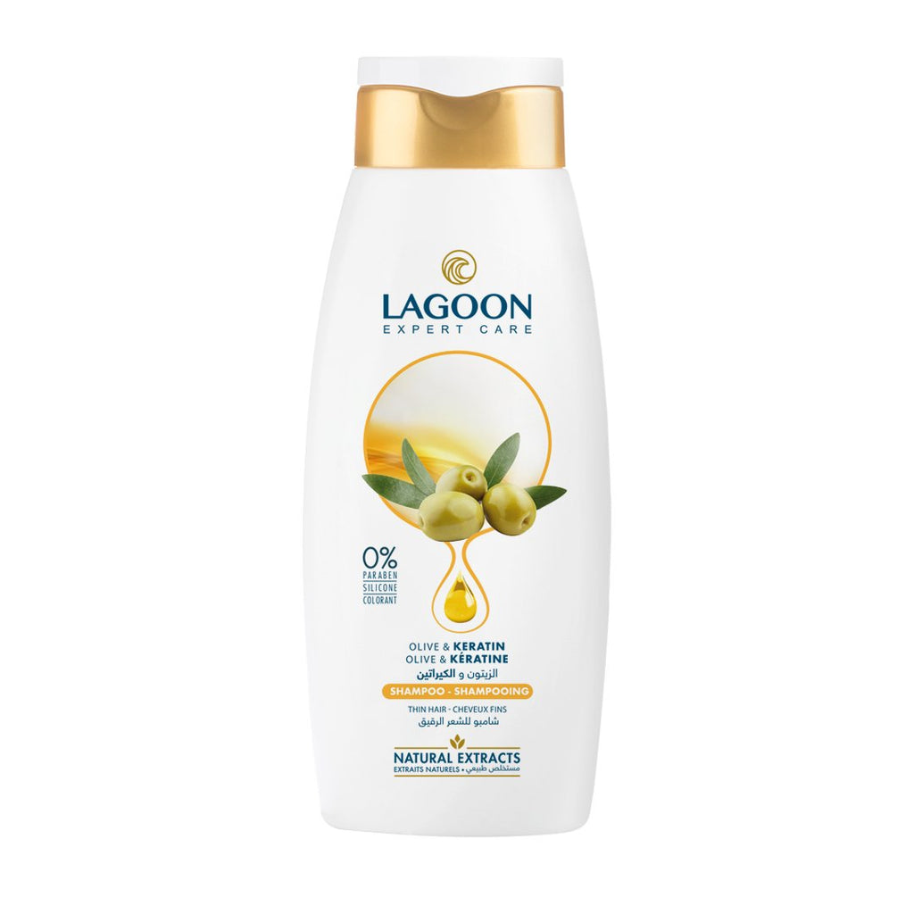 Lagoon Natural Extracts Shampoo for Thin Hair - Olive & Keratin