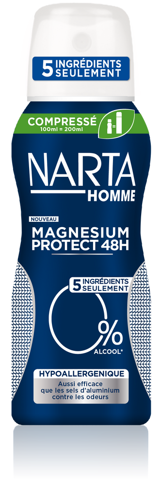 Narta Homme Magnesium Protect Compresse Hypoallergenique Spray 100ml