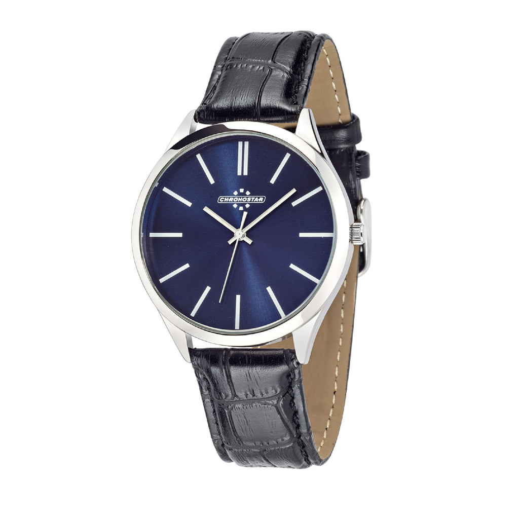 Chronostar Marshall Blue Dial Black Strap Watch R3751245002