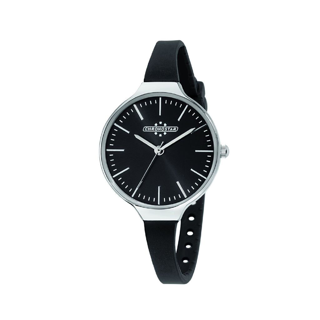 Chronostar Toffee Black Dial Black Strap Watch R3751248504