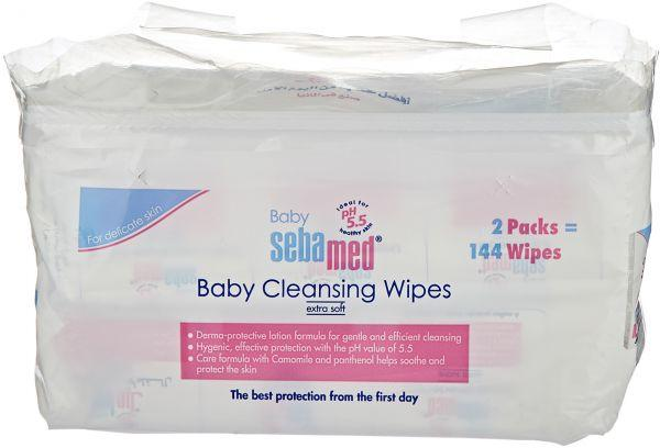 Sebamed Baby Wet Wipes 72 Duo Pack