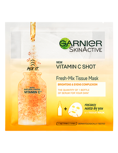 Garnier Skin Active  Fresh Mix Face Sheet Shot Mask with Vitamin C