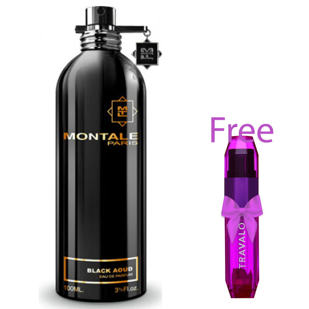 Montale BLACK AOUD +Free Travalo pocket size perfume refillable