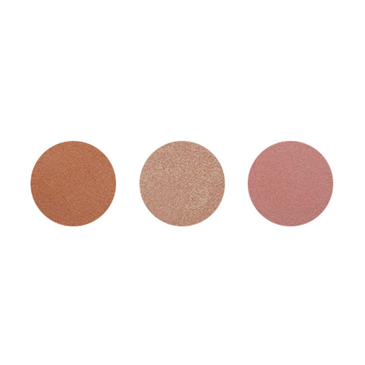 Dali Cosmetics Trio Bronzer-Blush-Highlighter