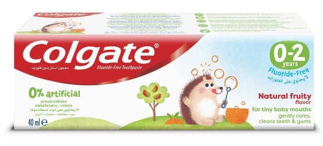 Colgate Kids Toothpaste Fluoride Free 0-2 years 40ml