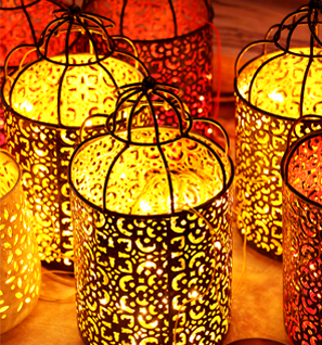 Metal Filigree Lanterns