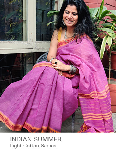 Indian Summer - Light Cotton Sarees available at The India Craft House