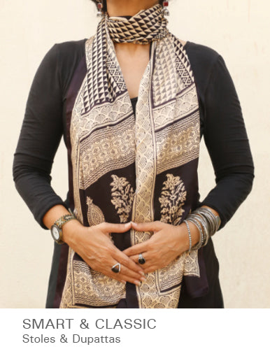 Smart Wraps - Stoles & Dupattas available at The India Craft House