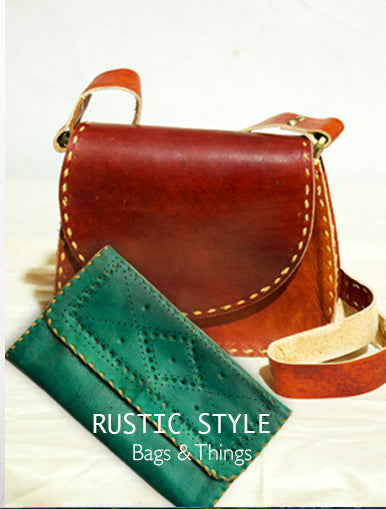 Rustic Style - Bags & Things available at The India Craft House