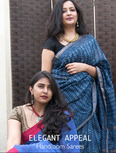 Elegant Appeal - Handloom Sarees available at The India Craft House
