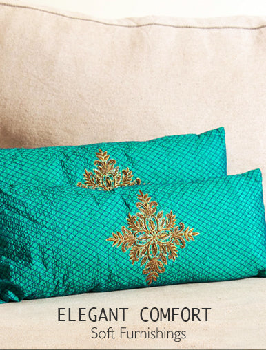 Elegant Comfort - Soft Furnishings from The India Craft House