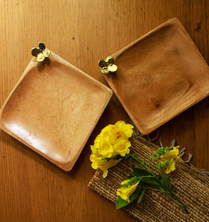 Wood & Dhokra Trays