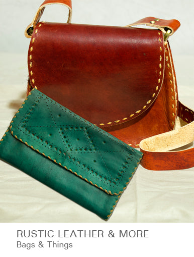 Rustic Leather & More - Bags & Things available at The India Craft House