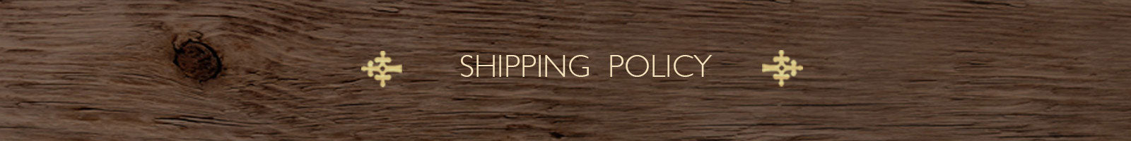 Shipping Policy - The India Craft House