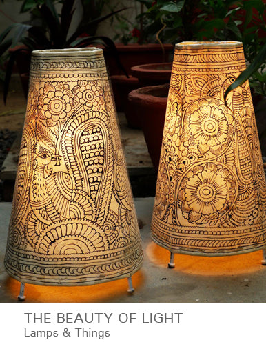 The Beauty of Light - Lamps & Things available at The India Craft House