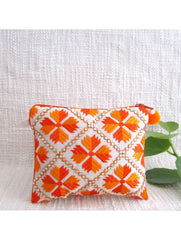 2 toned Embellished Orange Coin Pouch