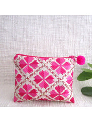 2 toned Embellished Pink Coin Pouch