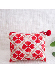 2 toned Embellished Red Coin Pouch