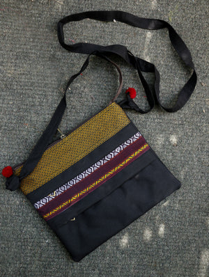 3 - Zip Crossfront Bag - Khand - The India Craft House