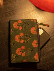 Ajrakh Cloth Covered Diary-cum-Pouch