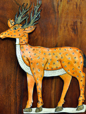 Andhra Leather Craft - Puppet - Deer - The India Craft House