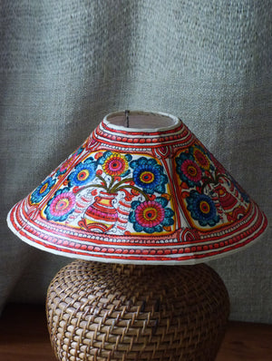 Andhra Leather Craft - Table Lamp Shade - The India Craft House 1