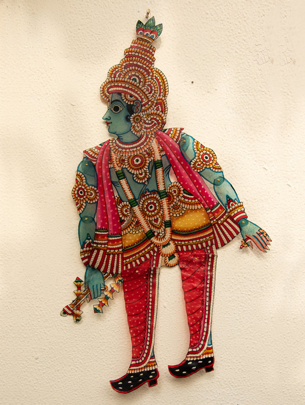 Andhra Leather Craft Puppet - Krishana - The India Craft House