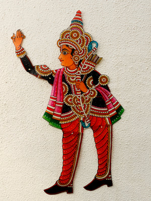 Andhra Leather Craft Puppet - Laxman - The India Craft House 1