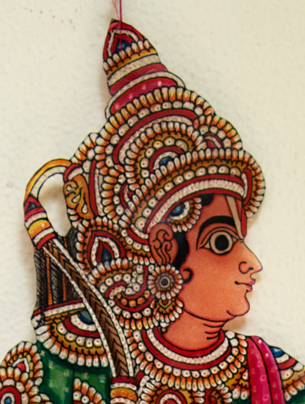 Andhra Leather Craft Puppet - Laxman - The India Craft House