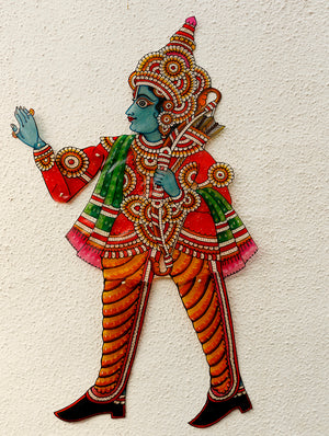 Andhra Leather Craft Puppet - Ram - The India Craft House 1