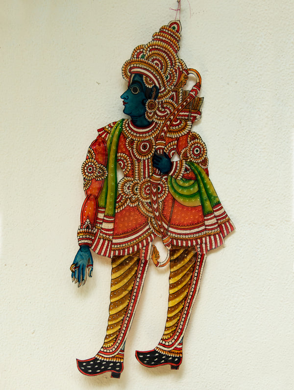 Andhra Leather Craft Puppet - Ram - The India Craft House