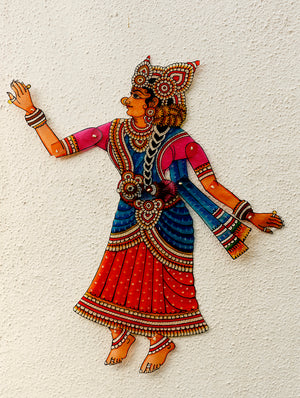 Andhra Leather Craft Puppet - Sita - The India Craft House 1