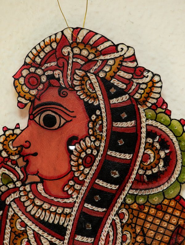 Andhra Leather Craft Puppet - Sita - The India Craft House
