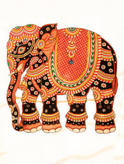 Andhra Leather Painted String Puppet - Elephant