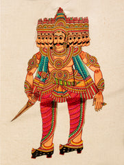 Andhra Leather Painted String Puppet - Raavan